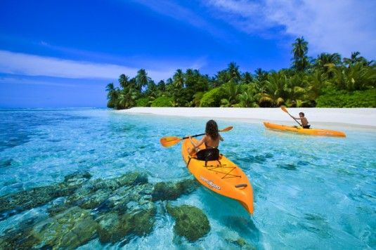 Prachtig strand op de Maldiven
