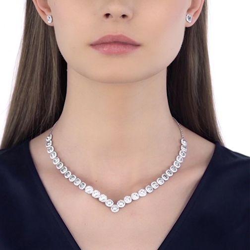 1467eb1e69477 Angelic Square Set, White, Rhodium plated | jewelry | Jewelry ...