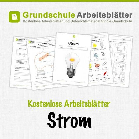 Kostenlose Arbeitsblätter und Unterrichtsmaterial für den Sachunterricht zum Thema Strom in der Grundschule.