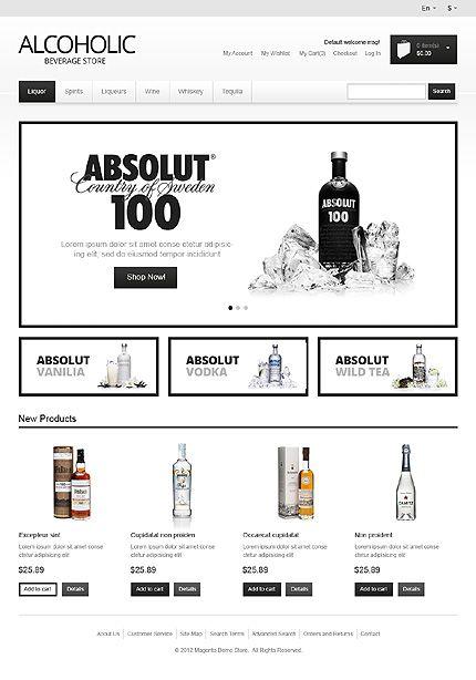 Alcohol Store Magento Theme #food #drink #website www.templatemonster.com/magento-themes/41218.html?utm_source=pinterest&utm_medium=timeline&utm_campaign=alc