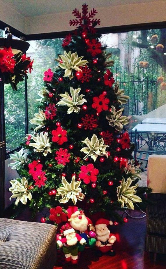 35 Amazing Christmas Tree Decoration Ideas You Must Try In 2020 Page 32 Of 34 Newyearlights Com Floral Christmas Tree Red Christmas Decor Christmas Tree Themes