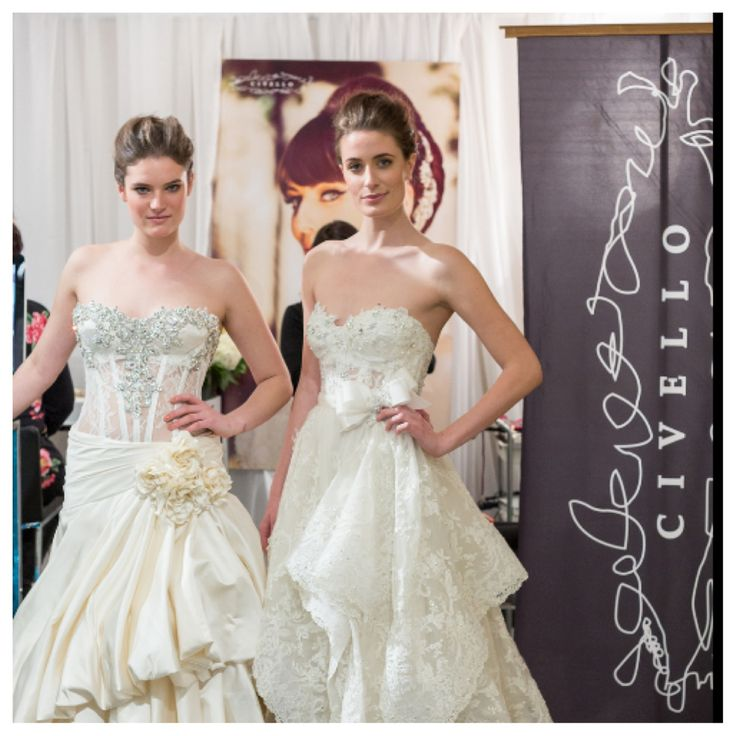 The Wedding co show 2014 models hair and make up by team Civello, wedding gowns by Pnina Tornai at Kleinfeld's at Hudson Bay Toronto photo by www.davidapike.com