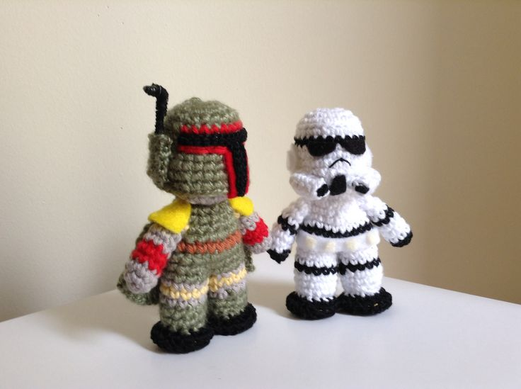 Boba fett // storm trooper star wars crochet #amigurumi #starwars #bobafett