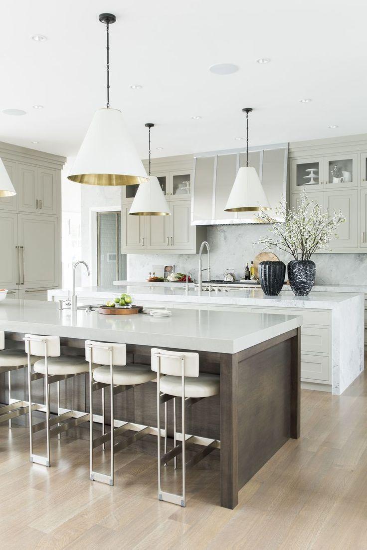 Unique Kitchen Island Ideas White And Grey Modern 50 Stunning Kitchen Island Ideas Ideas In 2020 Contemporary Kitchen Island Custom Kitchen Island Kitchen Design Decor