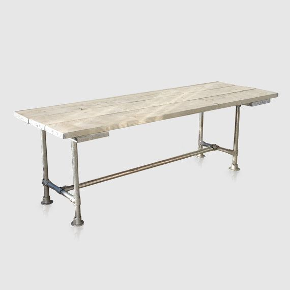 Industrial Style Scaffold Board / Pipe Table. Home or Outdoor for Dining or…