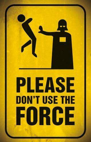 decoração star wars poster não use a Força