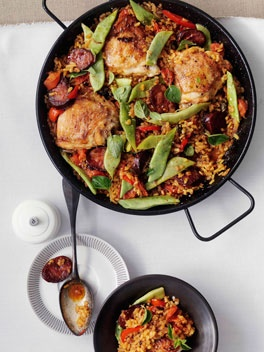 Spanish Rice with Chorizo and Chicken