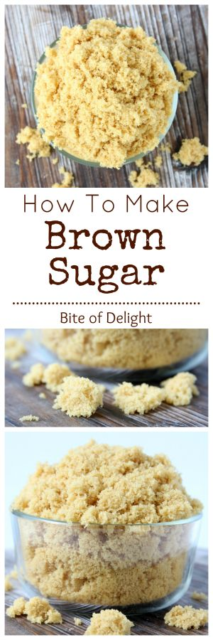 With just two pantry staples, you can make your own brown sugar!  It's soft and easy to work with, plus it has great flavor!