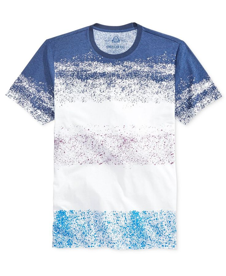 American Rag Men's Sprayed-Stripe T-Shirt, Only at Macy's