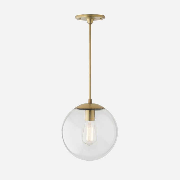Luna Globe Pendant |  Natural Brass | Schoolhouse Electric
