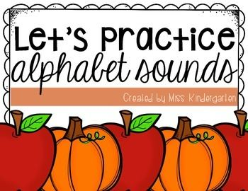 This cute little activity helps your students practice the alphabet sounds in a fun way. After reciting the poem, your student will pick a letter out of the basket and identify the sound the letter makes. Perfect for a small groups, or as a time filler at the end of the day!This download includes apple and pumpkin letters to be used throughout fall :)Enjoy!Looking for more alphabet sounds practice?