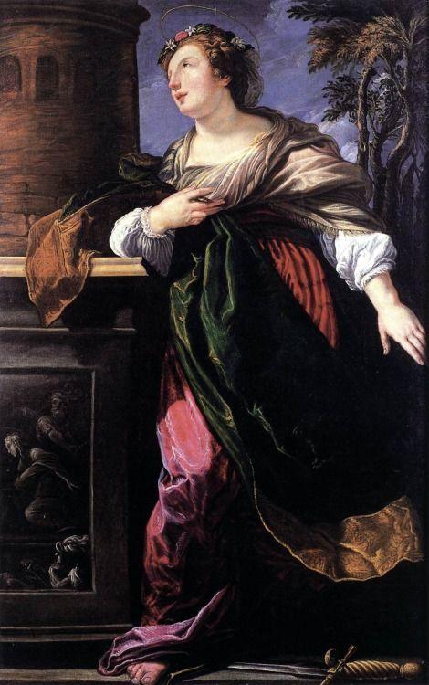 Lucrina Fetti Santa Barbara 1619 Pintura Temas