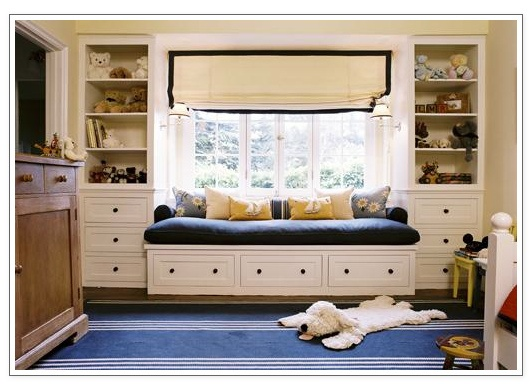 window seat  like the idea for the bed and storage in a small space and the light sconces on either side: Idea, Built Ins, Kids Room, Builtin, Playroom, Windowseats, Window Seats, Bedroom, Boy Room