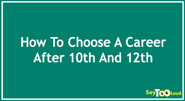 If you are done with your 10th/12th standard and are in the process of choosing the right career for yourself, then you might be facing questions like how to choose a career? and so on..