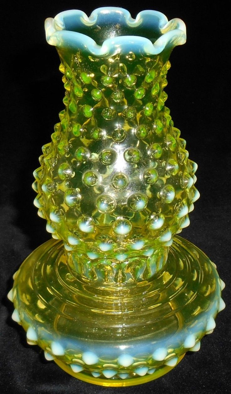 42 best depression glass images on pinterest depression glasses imperial hobnail uranium glass vase shaped like a hurricane lamp reviewsmspy
