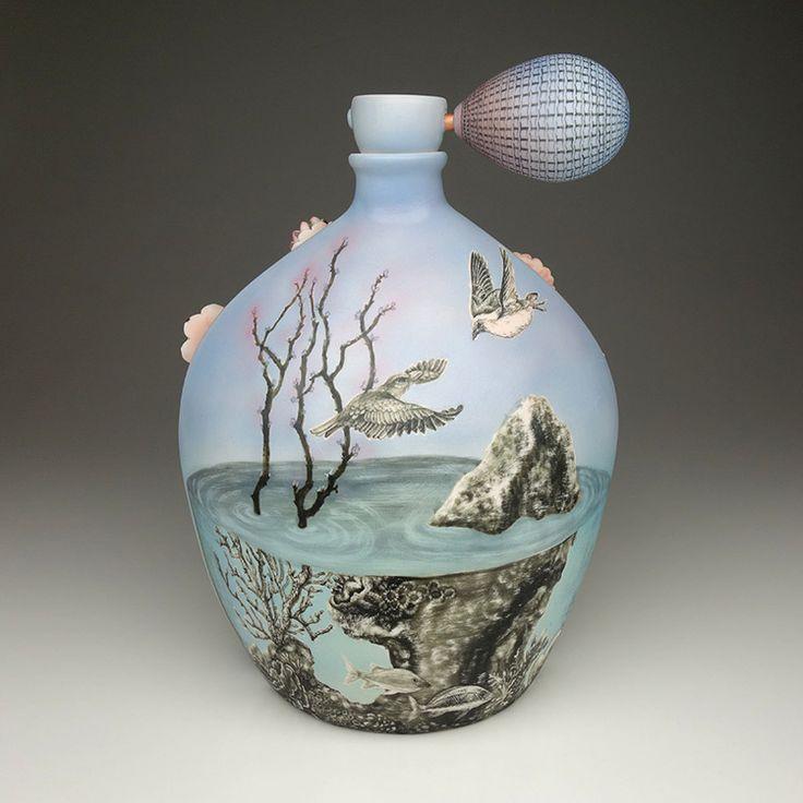 MyungJin Kim - Large Perfume Jar - Archie Bray Foundation Gallery