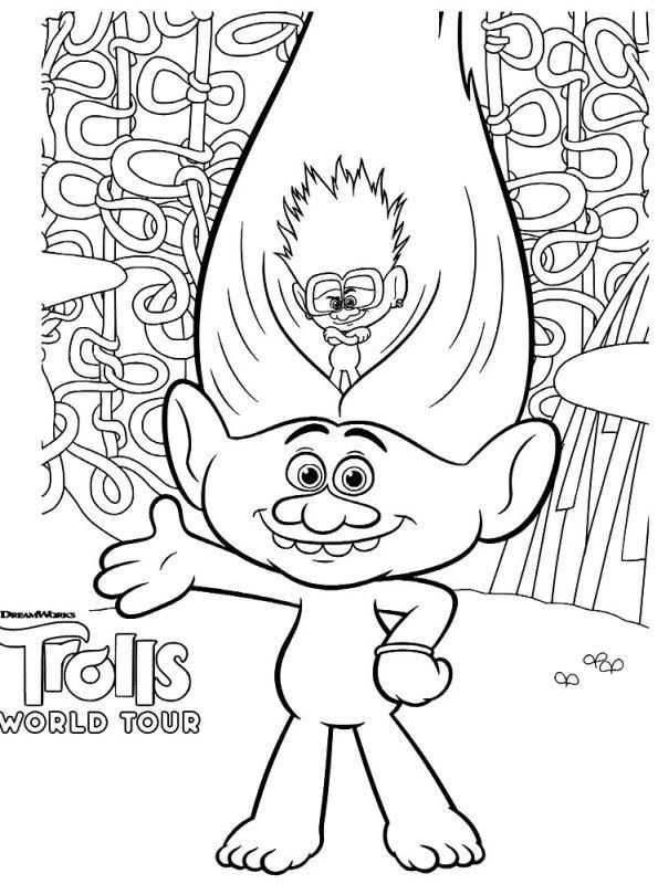 Coloring Page For Kid Trolls Trolls Movie Coloring Pages Coloring Home Shanell Williams Coloring Pages For Kids Cool Coloring Pages Disney Coloring Pages