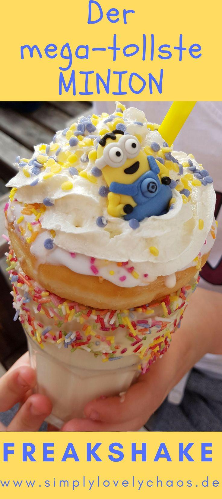 Eine leckeres und einfaches Rezept für einen Minion-Freakshake. Tolle Idee für Kinder und Geburtstage. Minons-Party #minions #minion #freakshake #party #kindergeburtstag