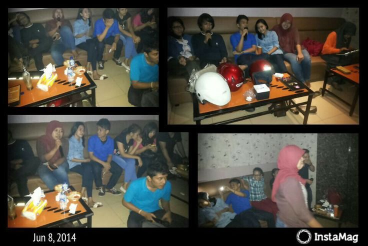 The time my self spend time and fun together with ny friends.. thanks God.