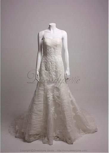 Image of Custom Elegant Exquisite Charm Satin Sweetheart Neckline Wedding Dress