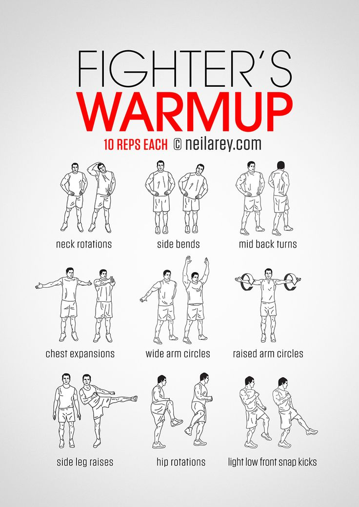 Fighter's warm-up routine.