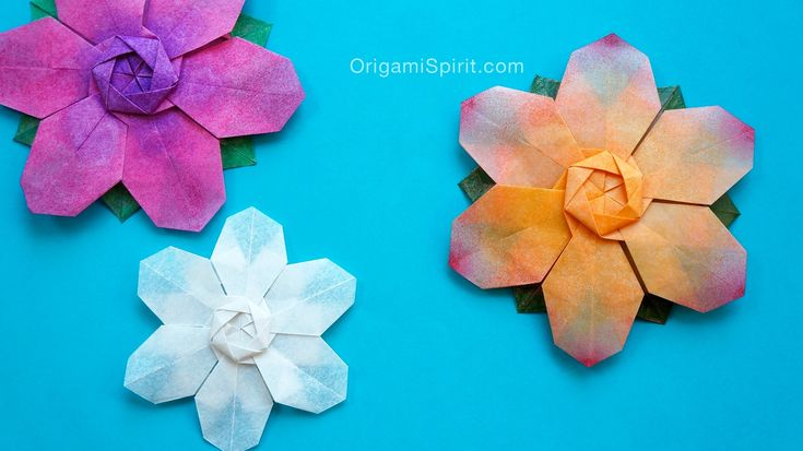 origami star flower instructions