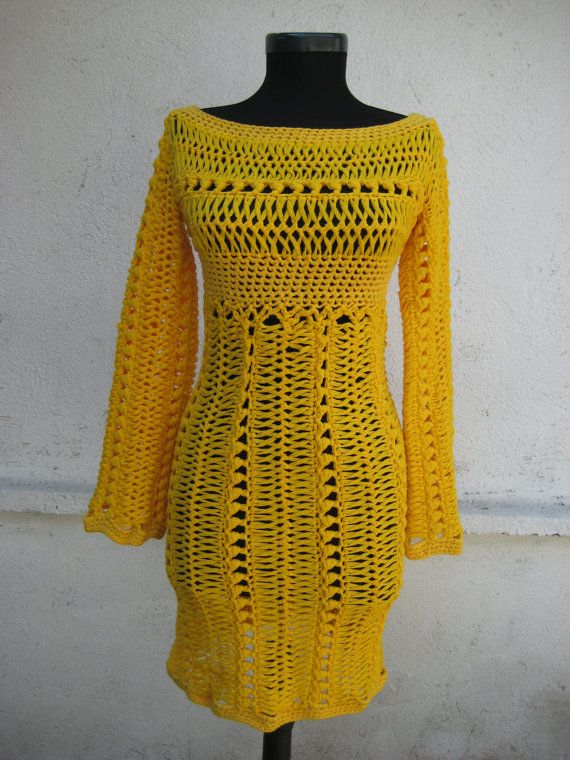 Hand Knitted Dress Patterns : 17 Best images about hand knitted dresses on Pinterest Lace, Beach dresses ...