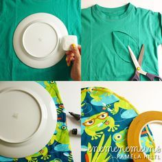 easy peasy shirt tutorial - werd ich mal ausprobieren... Stoffreste hab ich dafür ja genug ;)