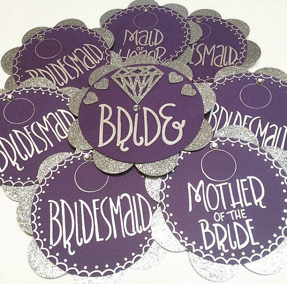 Custom Hand-Crafted Bachelorette Party Pins by PaperSweetsCrafts
