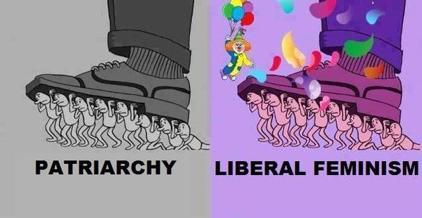 Liberal feminism doesn't liberate women. See also: those fucking pussy hats