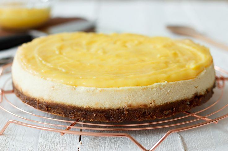 Lemon curd cheesecake - Zoetrecepten