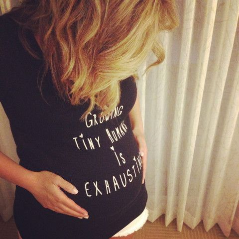 """""""Growing Tiny Humans"""" Maternity Tee – WeeStructed"""