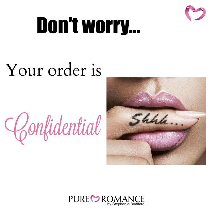 At your Pure Romance party....all ordering is CONFIDENTIAL! Host a FREE party! www.pureromance.com/stephaniebodiford