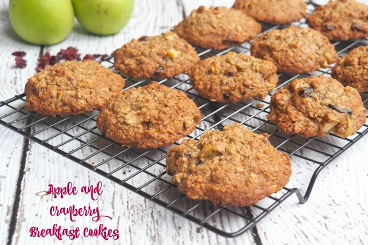 Apple and Cranberry Breakfast Cookies
