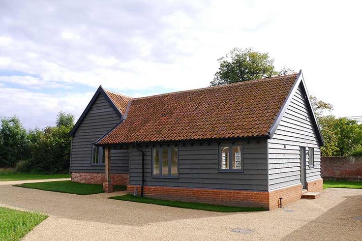 black vincent timber clad houses | Barn conversion Harewood Suffolk | House cladding, Barn ...