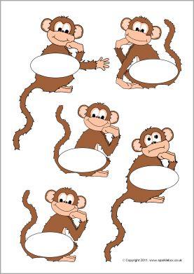 Pupil self-registration monkeys (SB5021) - SparkleBox