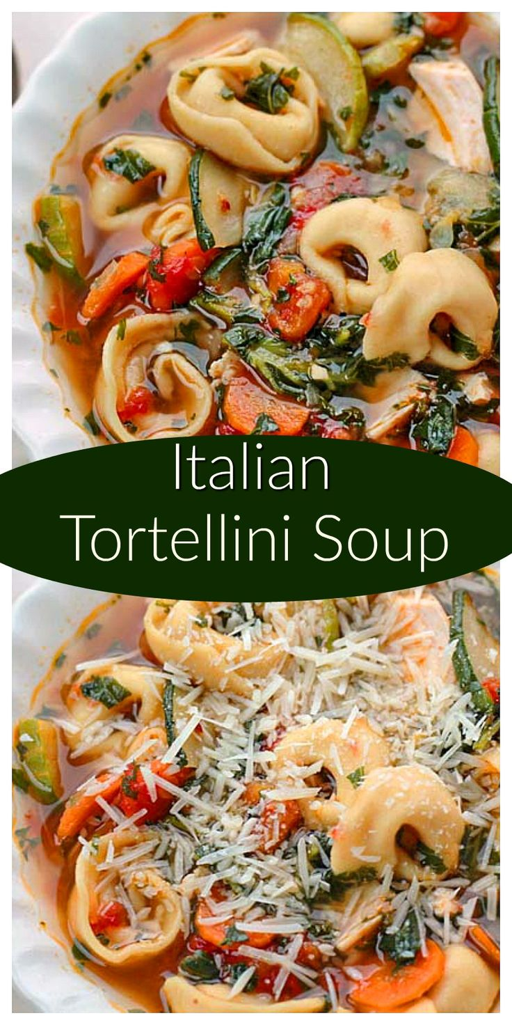 Italian Tortellini Soup can be made with fresh or frozen, thawed vegetables making this soup very versatile, easy and quick to make and enjoy.