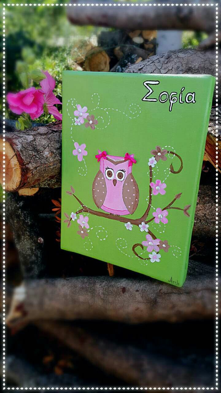 Owl ART painting canvas