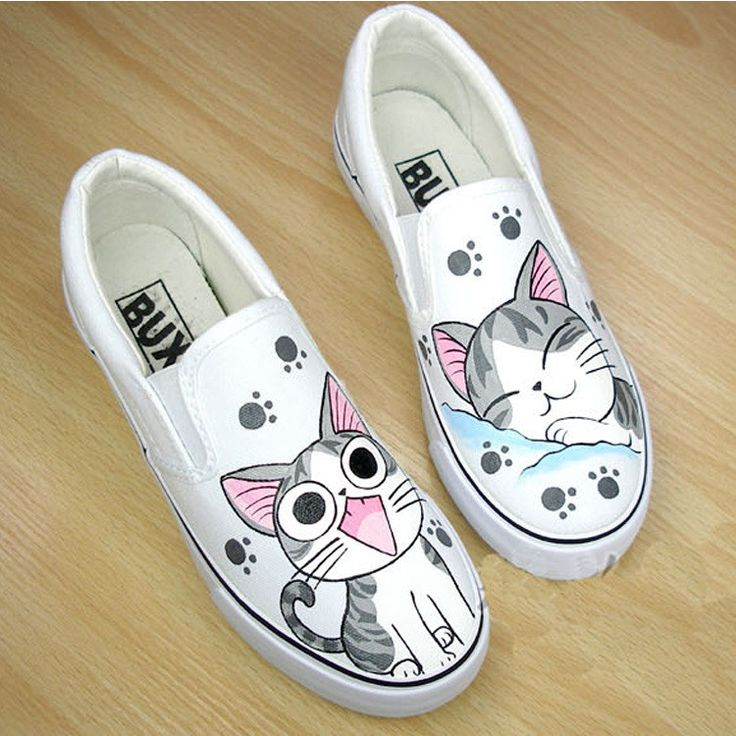 Cat Shoes Hand Painted Canvas Sneaker