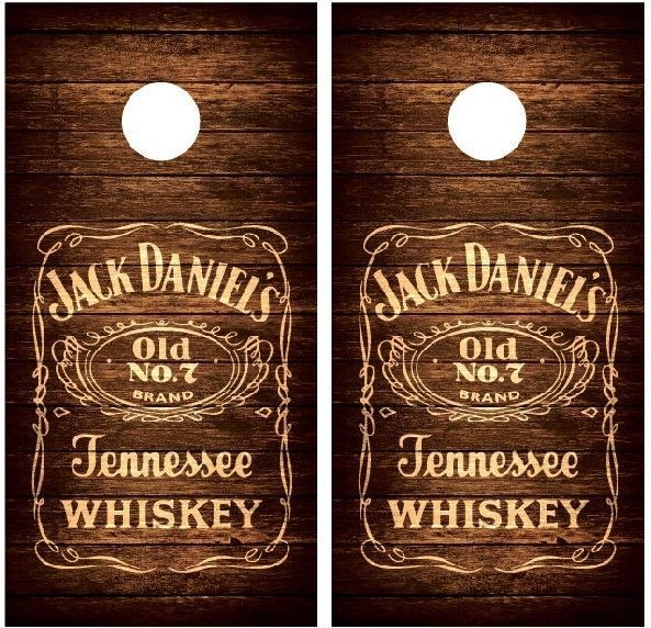 vintage JD wood cornhole board decal wraps
