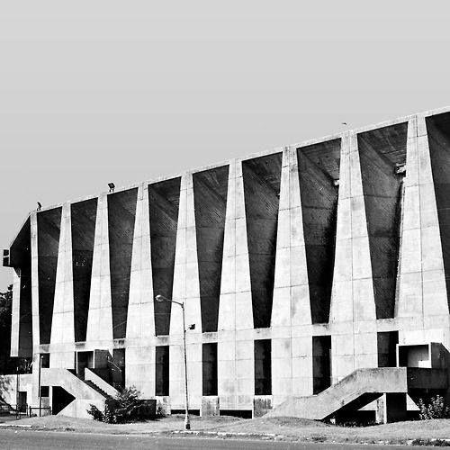 Tagore Memorial Hall, Ahmedabad. Balkrishna V. Doshi. 1962.