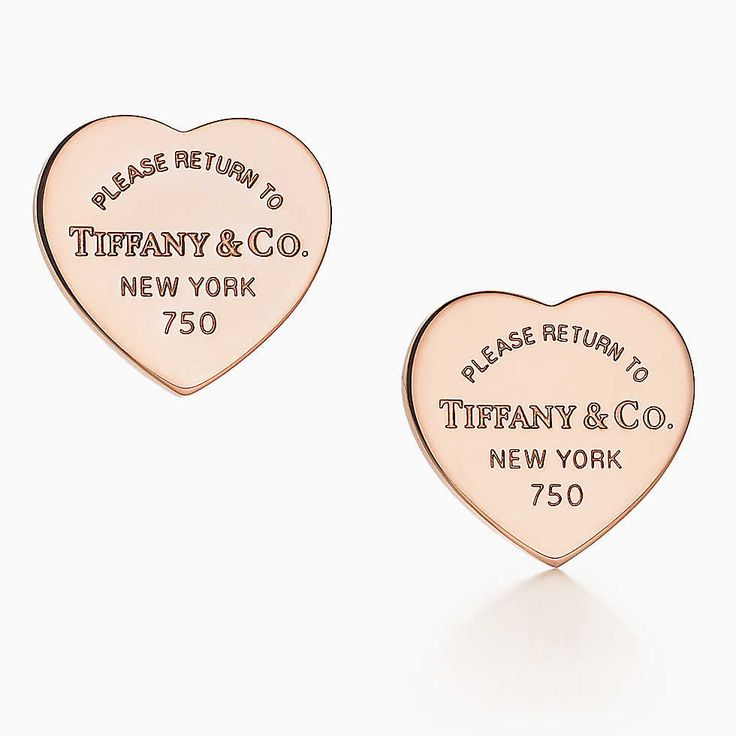 Orecchini con ciondolo a cuore Return to Tiffany™ in oro rosa 18k, mini.