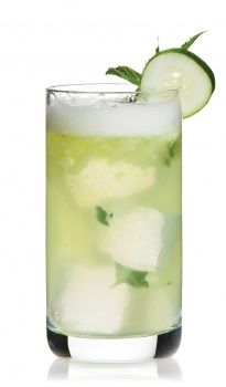 cucumber cocktail. cucumber vodka cucumber water agave syrup lime juice cointreau