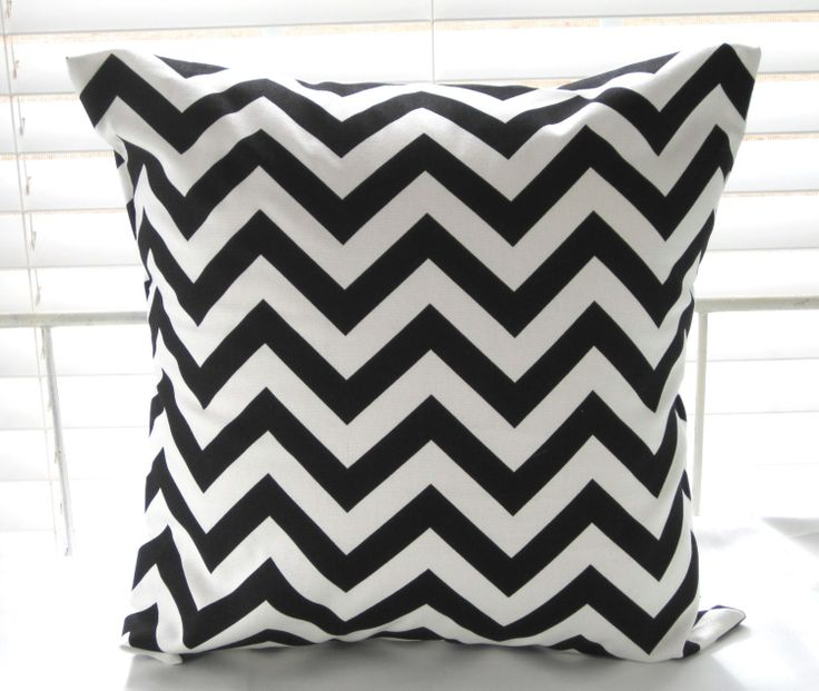 Black+and+White+Pillow+Decorative+Throw+Pillow+by+PillowsByJanet,+$17.00
