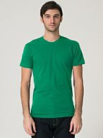 All-time favourite basic tee. Comes in an assortment of colours. Fine Jersey Short Sleeve T-shirt from American Apparel.