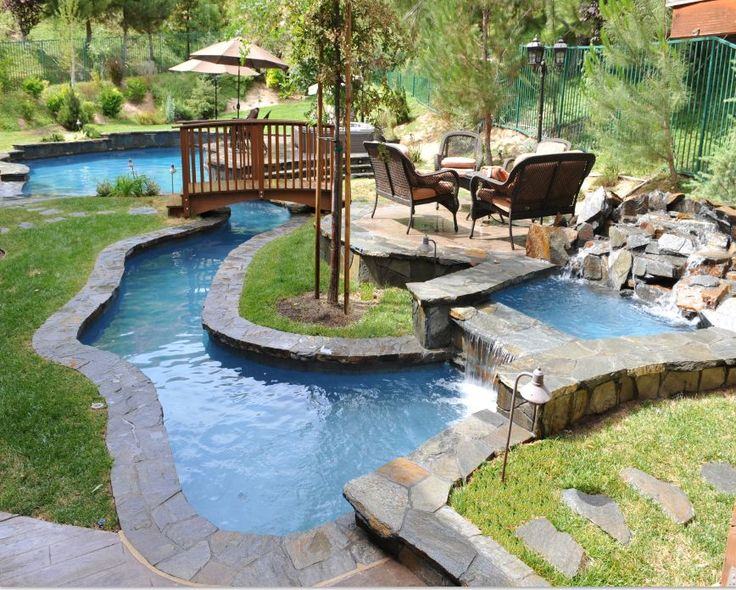 Backyard Lazy River Swimming Pool Designs Back Yard With Plans
