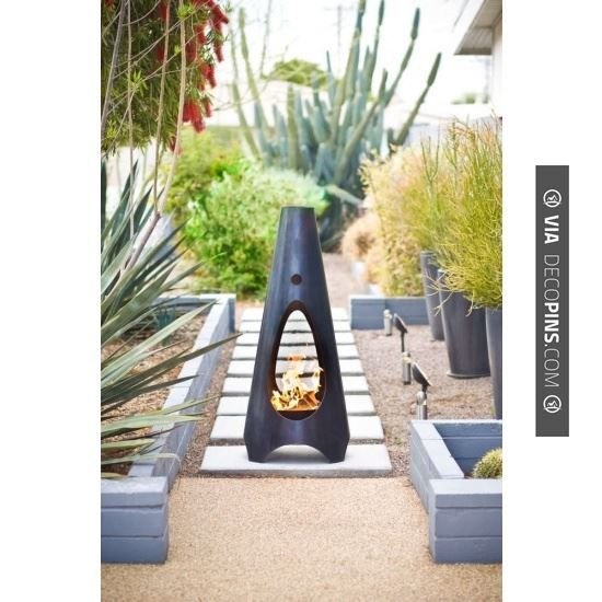 So Neat   Outdoor Fireplace | CHECK OUT MORE FIREPLACE IDEAS AT  DECOPINS.COM |