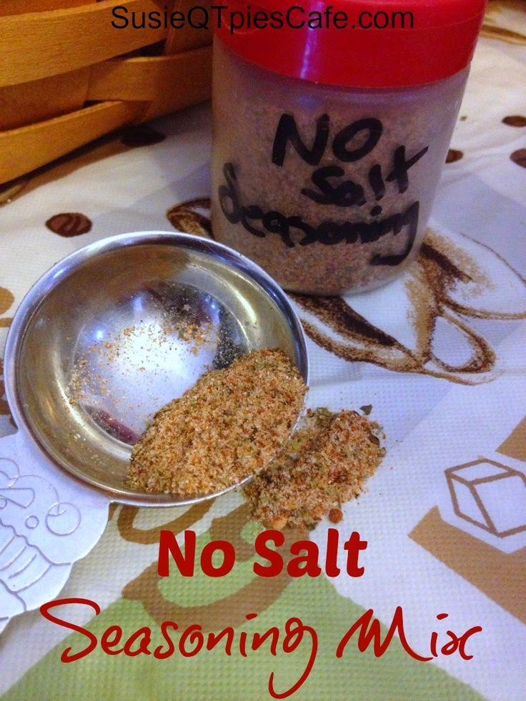 Homemade No Salt Seasoning {Healthy Recipes} from SusieQTpies Cafe