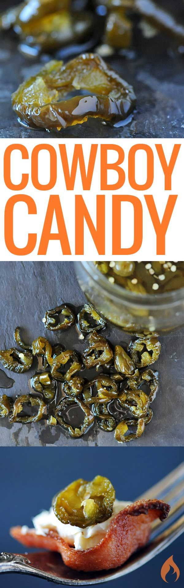 You'll pop these jalapenos like candy, even if you're a spice weenie. Cowboy Candy is addictive sweet candied jalapenos that are great with cream cheese.