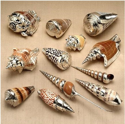 InStyle-Decor.com Beverly Hills Beautiful Italian 99.9% Silver Dipped Shells Enjoy & Happy Pinning